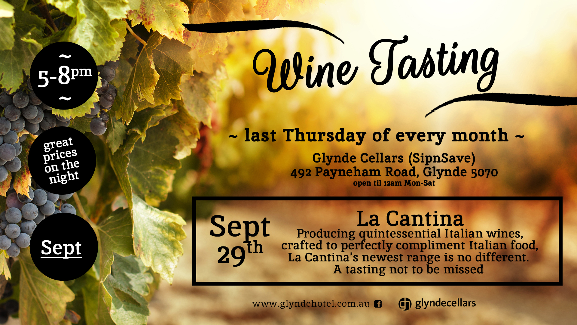 Last Thursday of the month Winetasting